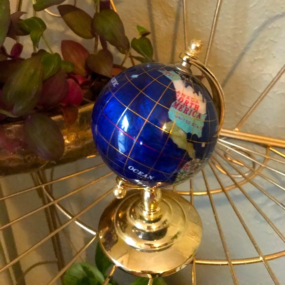 Small vintage world globe